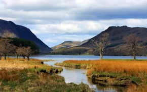 Picture autumn, mountains, lake, Hipwell