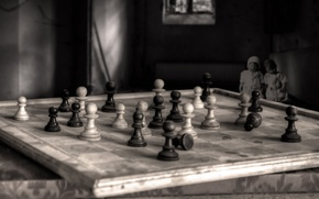 Picture background, the game, chess