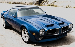 Picture Blue, Pontiac, Firebird, 1972