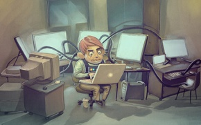 Picture computer, laptop, Programmer