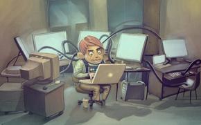 Wallpaper Programmer, laptop, computer