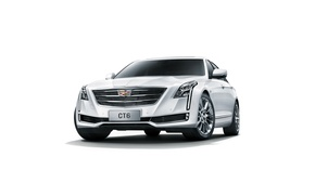 Wallpaper Cadillac, white background, sedan, Cadillac, CT6