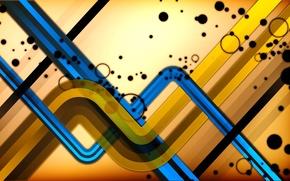 Picture line, Wallpaper, strip, color, bending