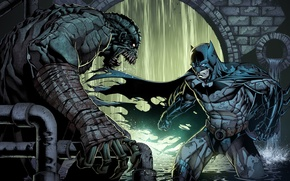 Picture batman, DC Comics, arkham, bruce wayne, Killer Croc