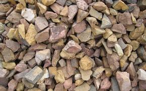 Picture stones, shore, gravel