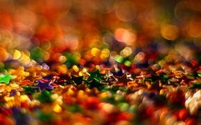 Wallpaper light, background, color, blur, stars