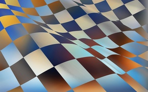 Picture abstraction, sport, flag, cells, finish
