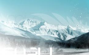 Picture cold, winter, snow, love, landscape, mountains, nature, fog