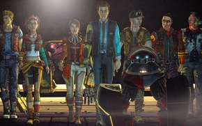 Wallpaper Figure, Sasha, Sasha, Borderlands, August, Scooter, Finch, August, Fiona, Fiona, Rhys, Tales from the Borderlands, ...