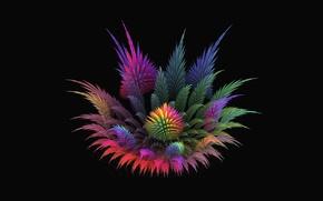 Picture flower, background, fractal