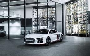 Picture Audi, White, V10, 24h, 2016, Metallic, R8, Plus selection