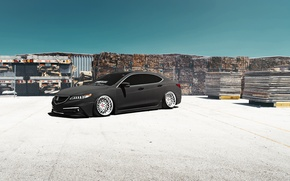 Picture Car, Front, Grey, Acura, Stance, Low, TLX