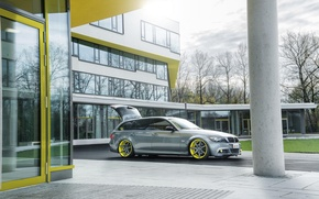 Picture bmw, tuning, stance, e91