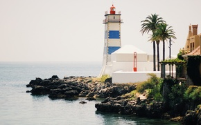 Picture sea, ocean, lighthouse