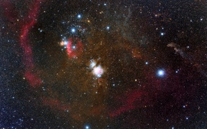 Picture nebula, Orion, in the constellation, Barnard's Loop, emission