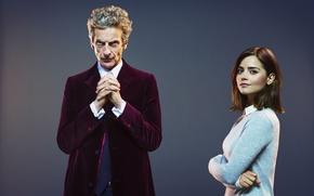 Picture look, girl, background, actress, actor, male, Doctor Who, Doctor Who, Peter Capaldi, Peter Capaldi, Clara …