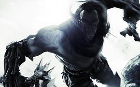 Picture death, mask, rider, Darksiders II
