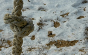 Picture sand, snow, rope