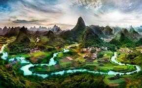 Picture mountains, hills, Guangxi, the South of China, Guangxi Zhuang Autonomous region