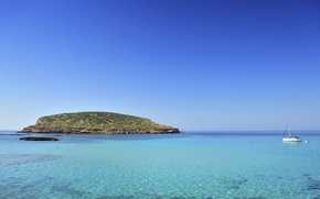 Picture blue, Spain, Ibiza, vacation, Balearic islands