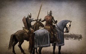 Picture the game, art, the battle, warriors, knights, action, ahead, role, RPG., Mount & Blade, the ...