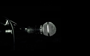 Picture BACKGROUND, BLACK, SOUND, STAND, MICROPHONE, MACRO, WIRE, VOICE