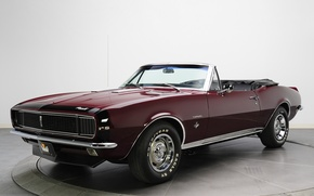 Picture retro, convertible, Chevrolet, muscle car, camaro, chevrolet, convertible, muscle car, 1967, Camaro