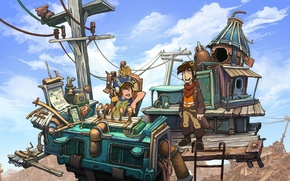 Picture wire, the game, guys, deponia