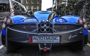 Picture blue, supercar, Pagani