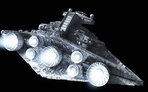 Picture Star Wars, fire, design, color, Destroyer, turbines