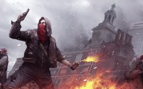 Picture the city, gun, machine, soldiers, ruins, a Molotov cocktail, the uprising, Homefront: The Revolution
