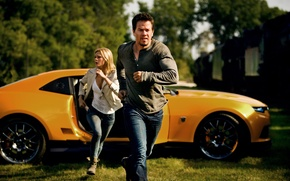 Picture Mark Wahlberg, Nicola Peltz, Transformers:Age Of Extinction, Transformers:Age of extinction
