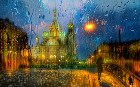 Picture the city, rain, street, Peter, St. Petersburg