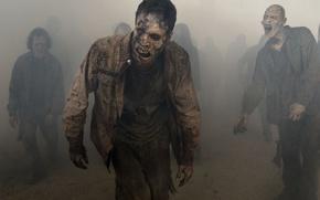 Wallpaper wallpaper, zombie, dead, death, mist, The Walking Dead, TWD, AMC, TV series, living dead, zombie ...