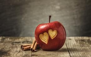 Picture love, heart, apple, love, heart, romantic, sweet