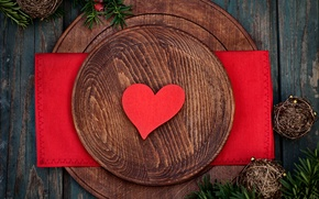Picture table, holiday, romance, heart, decoration, heart, holiday, romance, table, decoration