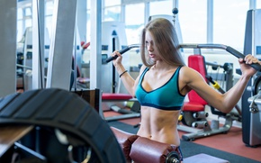 Picture blonde, workout, gym