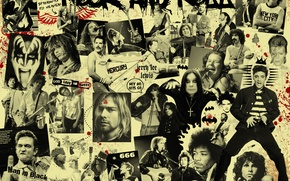 Picture music, black, musicians, rockers, Rock and Roll
