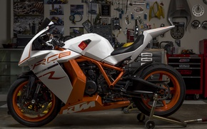 Picture design, garage, motorcycle, sportbike, KTM RC8R