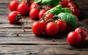 Wallpaper drops, vegetables, food, table, tomatoes, macro