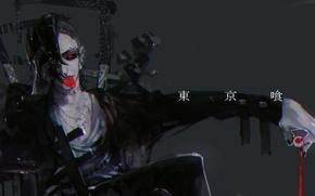Picture guy, red eye, Tokyo Ghoul, Tokyo Ghoul, Uta