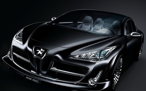 Wallpaper Concept, Peugeot, black