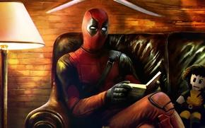 Picture mask, villain, book, art, mercenary, deadpool, ryan reynolds, marvel comics, wade wilson