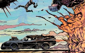 Picture car, auto, the explosion, supercharger, auto, art, 1973, Mad Max, Fury Road, Mad Max: fury …