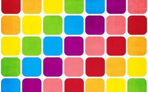 Wallpaper paint, rainbow, square