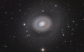 Picture galaxy, spiral, in the constellation, Beagle Dogs, M94 Galaxy