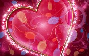 Wallpaper seed, Valentine, art, heart