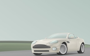 Wallpaper grey, Aston Martin, certainty, vector, clarity, simple, easy, dream, dream