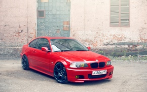 Picture wall, BMW, red, e46