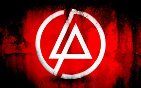 Picture red, background, logo, linkin park